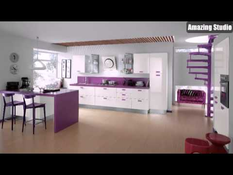 Kitchen Ideas Purple purple kitchen ideas - youtube