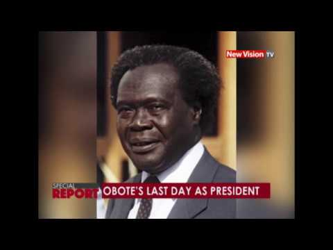 Obote's last day as President of Uganda