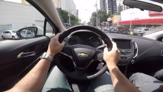 Chevrolet Cruze Sedan 1.4 TURBO Test Drive Onboard POV GoPro