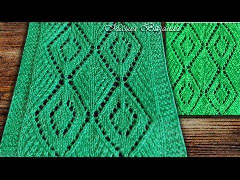 узор с ромбами к пуловеру Charlekote из журнала The Knitter видео