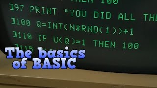 The basics of BASIC, the programming language of the 1980s.