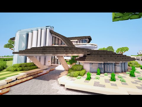 Minecraft maison d 39 architecte ultra moderne par fanfanxd for Maisons architecte