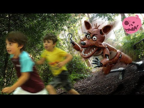 Real fnaf foxy vs kids - for kids