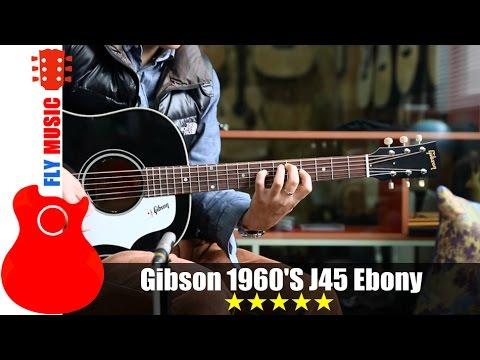 gibson 1960 39 s j45 ebony guitars review youtube. Black Bedroom Furniture Sets. Home Design Ideas