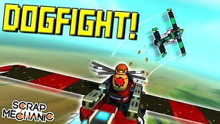 AIRPLANE DOGFIGHT CHALLENGE!  - Scrap Mechanic Multiplayer Monday! Ep 94