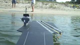 R/C Carrier Launches R/C Airplanes! (crash footage)