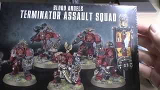 Blood Angels New Terminator Assault squad & Librarian unboxing and review (WH40K)