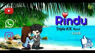 "Gambar cover ""Rindu"" Triple A'K || Animasi || Biarlah ku berhayal tinggi || lagu LDR || Tuhan jagakan dia"