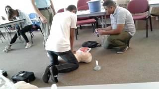 Учеба на курсах оказание первой медицинской помощи.