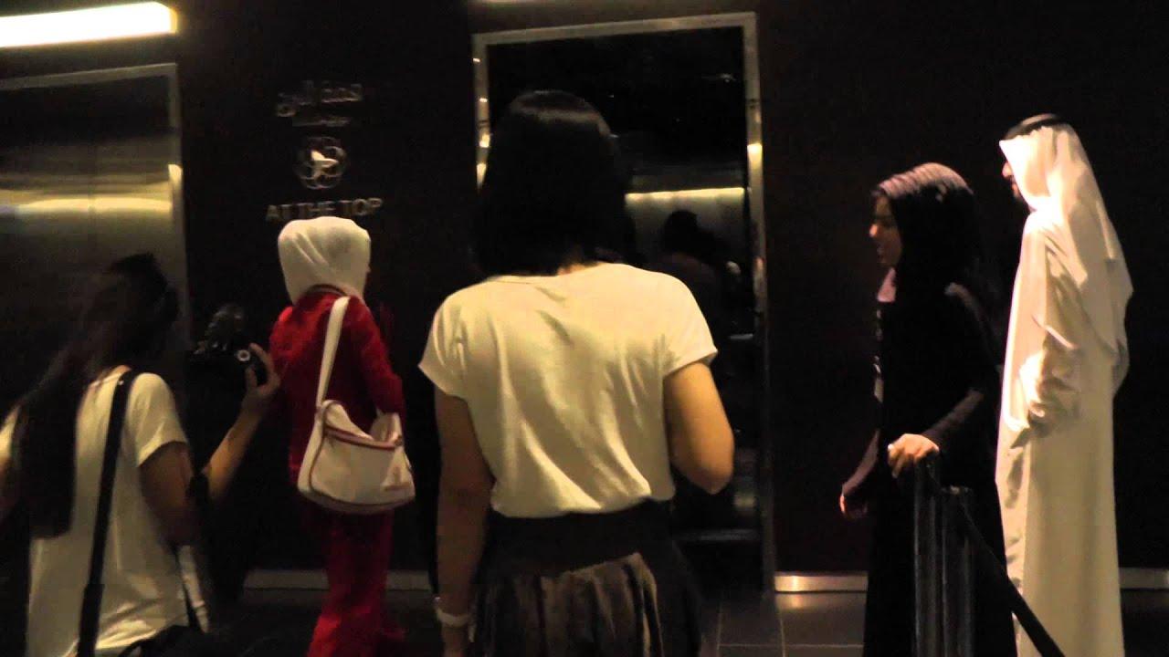 Burj Khalifa At The Top Elevator Ride 20 11 2012 Youtube