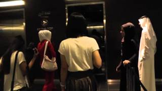 Burj Khalifa at the top- elevator ride 20-11-2012