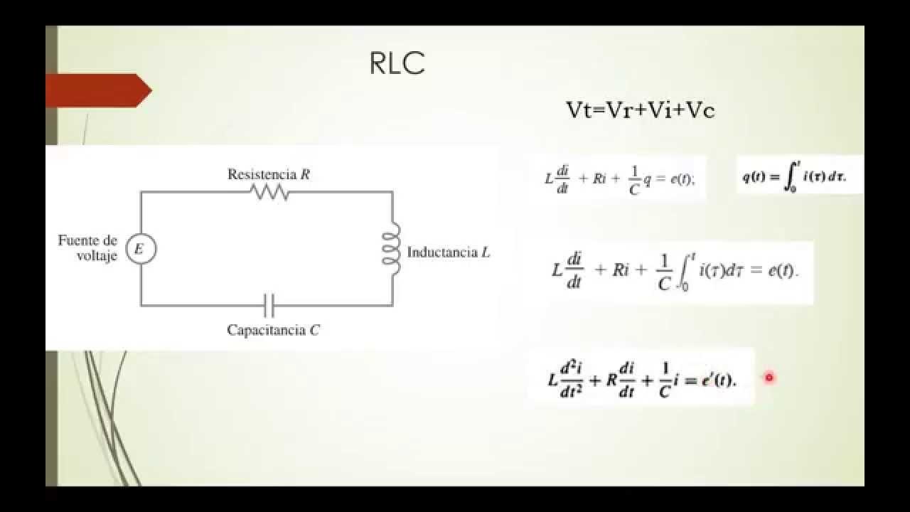 Circuito Rlc Serie Ejercicios Resueltos : Aplicaciones de ecuaciones diferenciales segundo orden