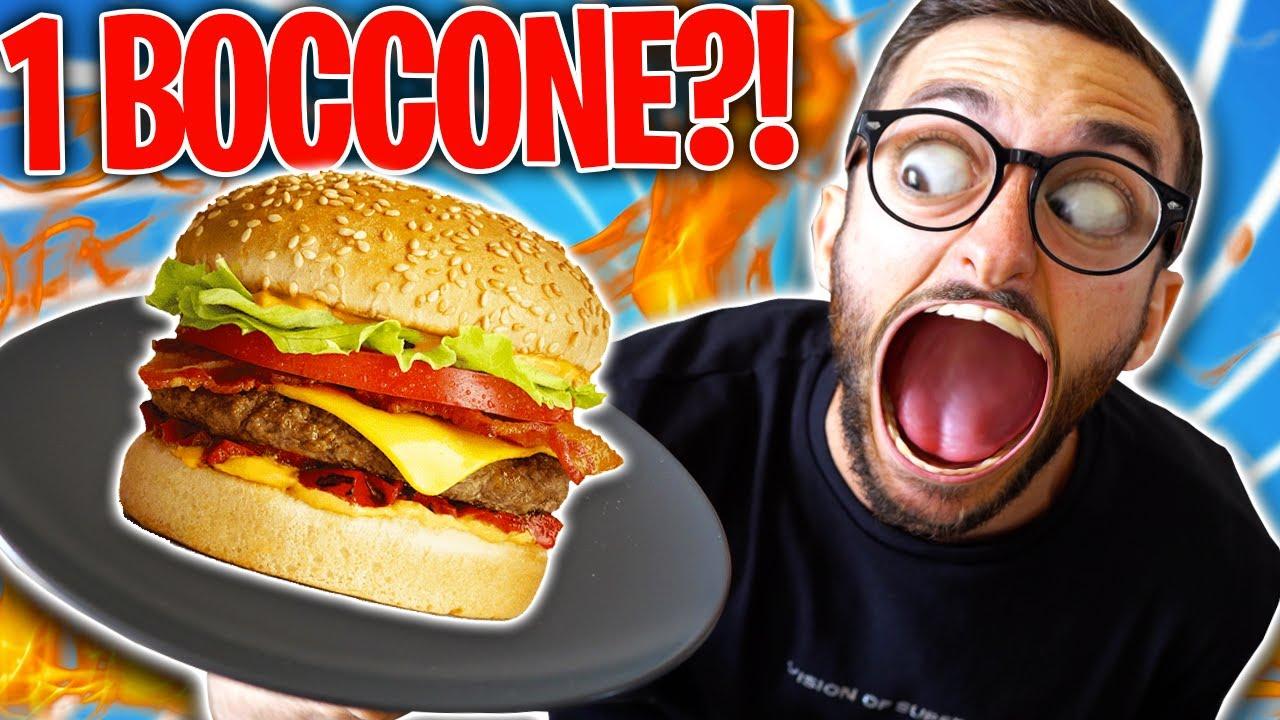 Riesci a mangiarlo in UN BOCCONE?! *Quasi vomitavo!*