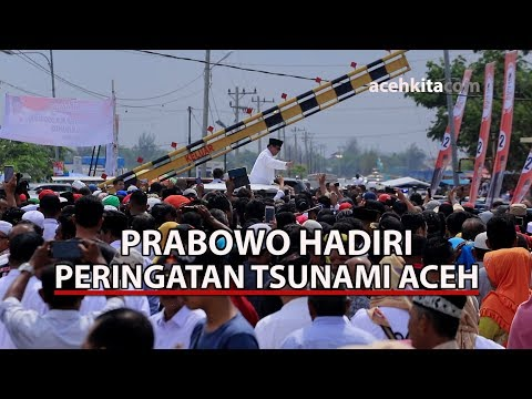 Prabowo Hadiri Peringatan 14 Tahun Tsunami Aceh