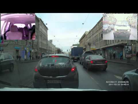 Видеорегистратор ACV GQ9 Lite v.1 - Пример Видео (День Ночь)