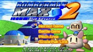 Bomberman Max 2 Blue Advance GBA con Logan