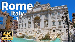 Rome, Italy Walking Tour Part 1 (4k Ultra HD 60fps)