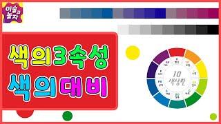 색의3속성과 색의대비/색상명도채도/명시성/주목성/조형원…