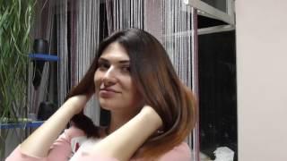 Создание  шоколадного  Омбре  для темных волос на мастер классе по колористике.