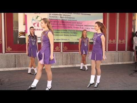 Музыкальный флешмоб Омск 27.06.2015. Ирландские танцы