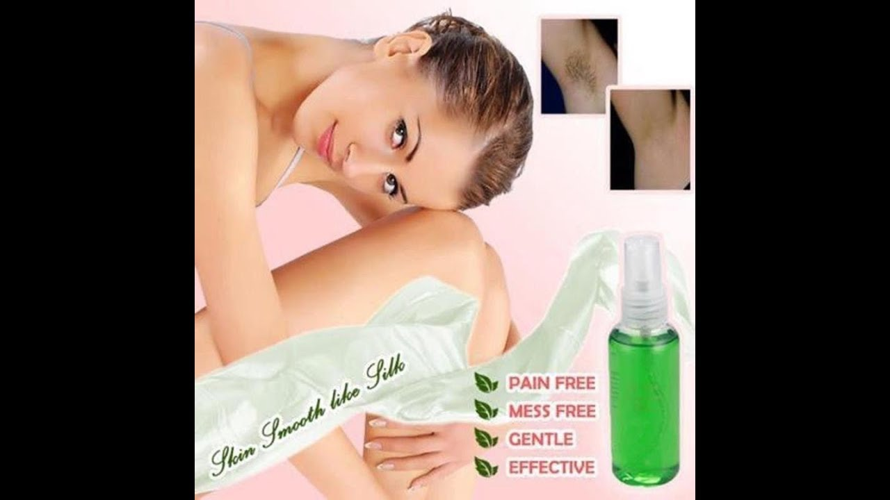 100 Natural Permanent Hair Removal Spray Thecommoncart Youtube