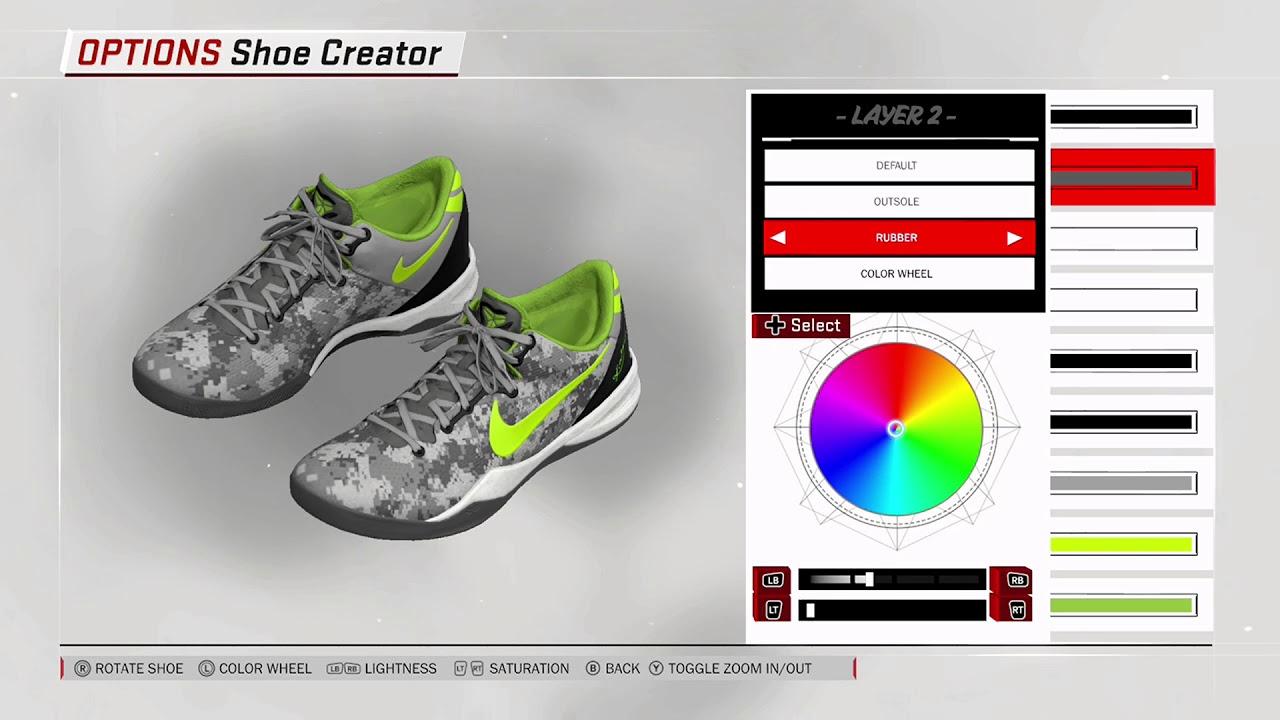 NBA 2K18 Shoe Creator Nike Kobe 8