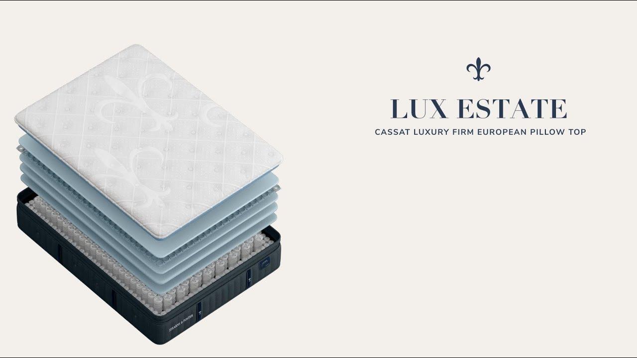 lux estate collection cassatt luxury firm pillow top mattress