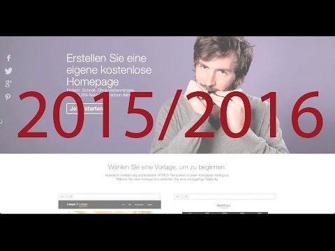 Step 1: Kostenlos Eigene Website Erstellen 2015/2016