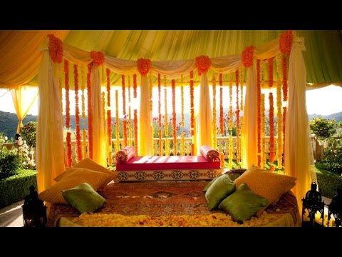 Nice Indian Wedding Decoration At Home. Wedding Video Ideas