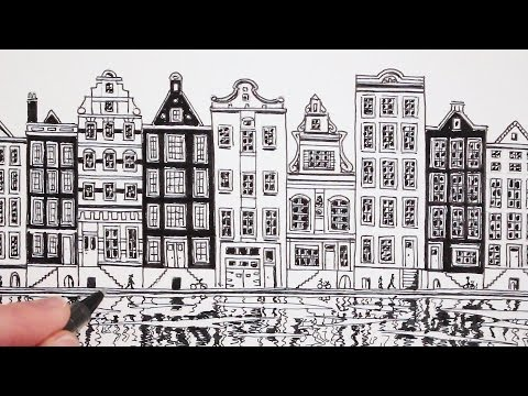 How to Draw a House: View of Amsterdam: Dutch House
