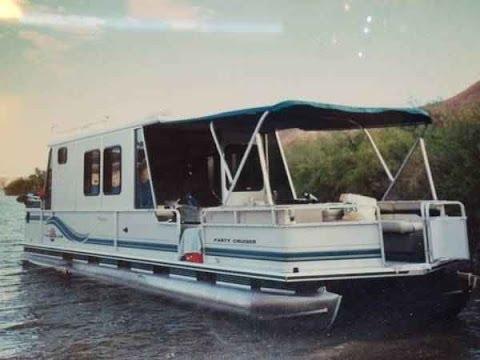 1997 Sun Tracker 32 Party Cruiser Pontoon Boat Youtube