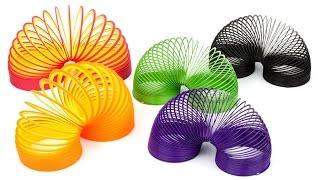 Обзор шагающих пружинок (Slinky, Слинки, Радуга)