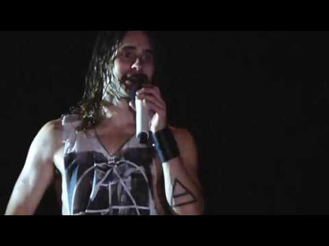 Do Or Die - Jared thanking Italy - 30 Seconds To Mars - Hydrogen Festival -  Padova 2013