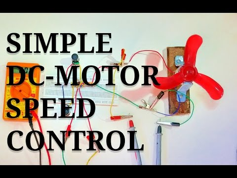 How to build a simple DC Motor Speed Control Circuit