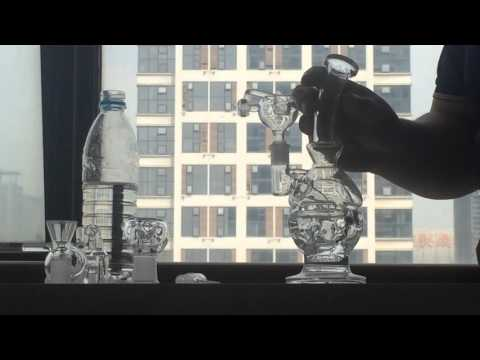 Thick Mothership Glass Bongs Bent Type Glass Water Pipes Fab Egg Smoking Pipe Recycler Oil Rigs Bong