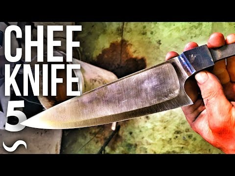 MAKING A CHEF'S KNIFE!!! PART 5