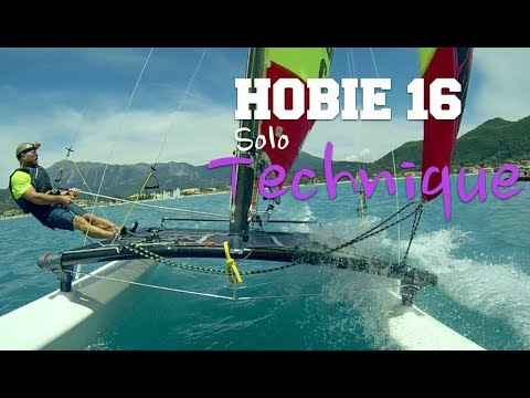 Hobie 16 single handed tutorial  Multi cam with onboard commentary