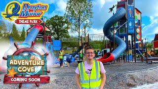 Drayton Manor Adventure Cove Construction Update - Tidal Towers & Area Updates