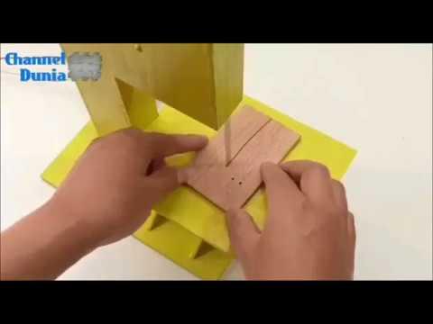 Cara membuat mesin potong kayu sederhana - YouTube