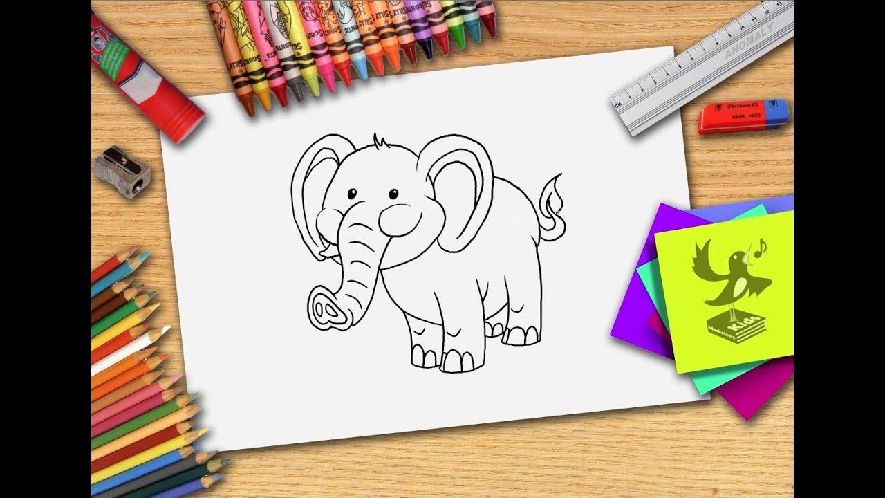 Hoe Teken Je Een Olifant Zelf Olifanten Leren Tekenen