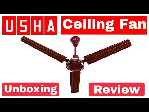 Usha Eurolex Aerostar 50 Watts 1200 Mm 48 Ceiling Fan Unboxing Review Hindi Technical Alokji Youtube
