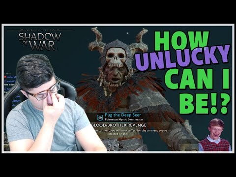 HOW UNLUCKY CAN I BE!? How a Live Stream Goes Wrong [Shadow of War]
