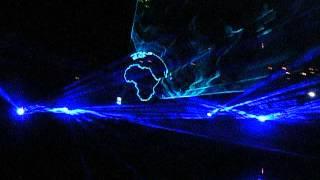 Могилев. Лазерное шоу на днепре 8 Мая 2015