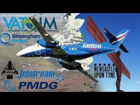 PMDG Jetstream JS4100 on Vatsim - Eastern Airlines EGNT-EGBB