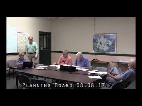 Planning Board 08.08.17