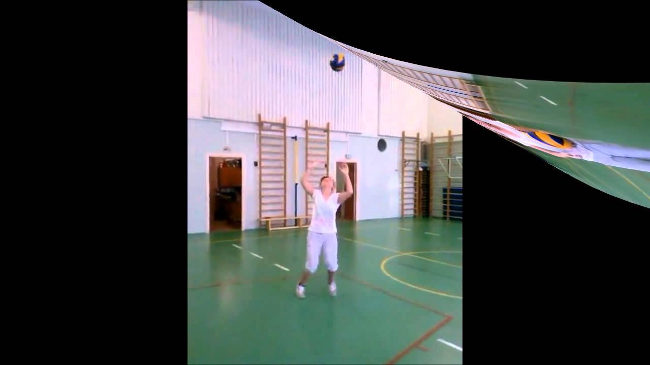 Волейбол: обучение технике передачи мяча сверху