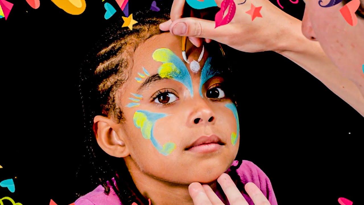 tuto maquillage facile papillon special carnaval deguisement grim tout