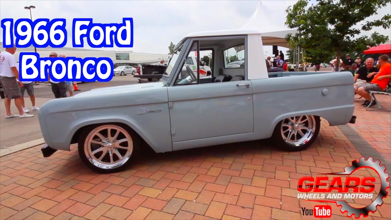 1966 Ford Bronco Half Cab Gears Wheels And Motors