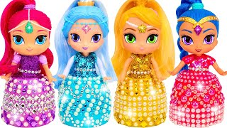 DIY How to Make Sparkle Dresses out of Play Doh for Shimmer and Shine Dolls