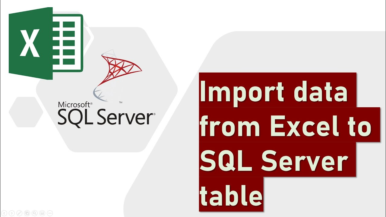 Import data from Excel to SQL Server table